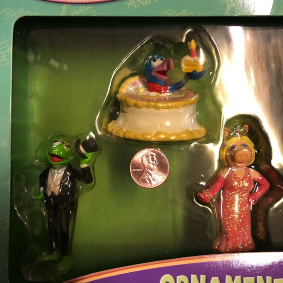 New The Muppets Ornament Set Miss Piggy Kermit